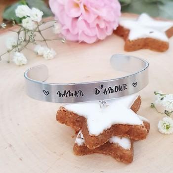 Bracelet en inox - Maman...