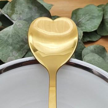 Cuillère en forme de cœur doré
