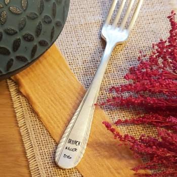 Fourchette métal argenté -...